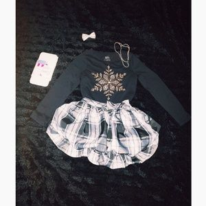 Snowflake/ bubble skirt outfit